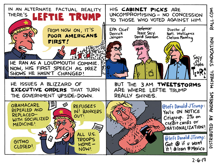 if Donald Trump was a leftie leftie donald trump