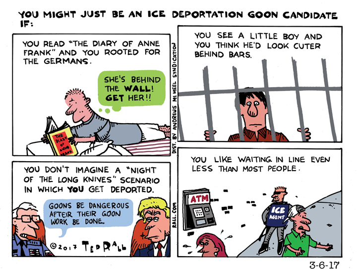 You Might Just Be an ICE Deportation Goon If...
