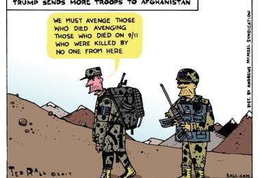 ted rall afghanistan cartoon