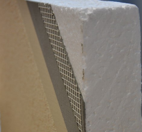 Rendered Foam Walls A New House