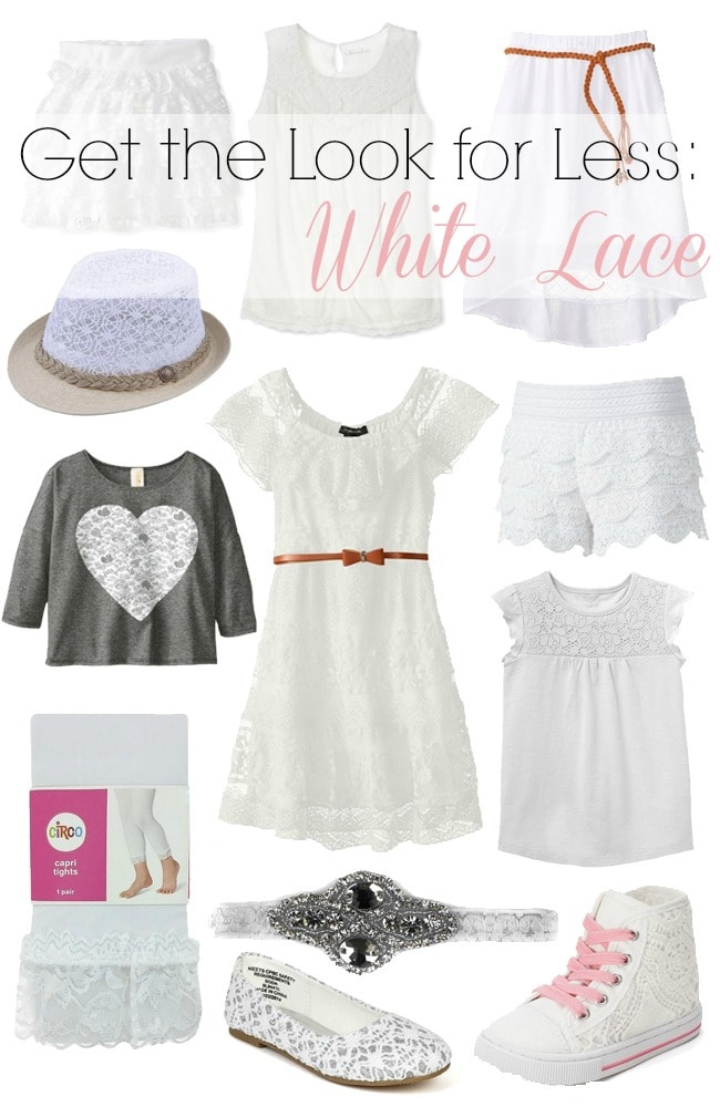 White Lace trends for little girls Vogue Fashion