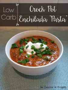 Low Carb Enchilada Pasta