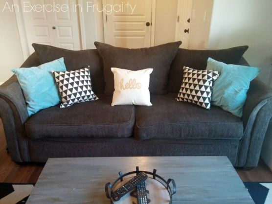Finished DIY throw pillows