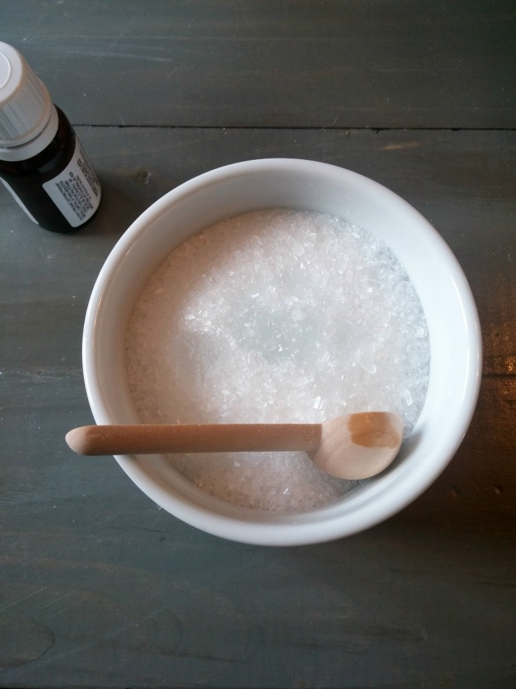 bath salt with essential oil
