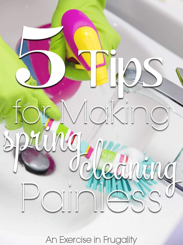 5 Tips to Make Spring Cleaning Painless