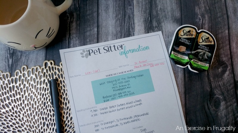 How to Choose the Right Pet Sitter-I will never again trust the lives of my pets to just anyone after our harrowing ordeal. There's great tips here for choosing a sitter, a free printable Pet Sitter Instruction kit and more. #PerfectPortions #ad
