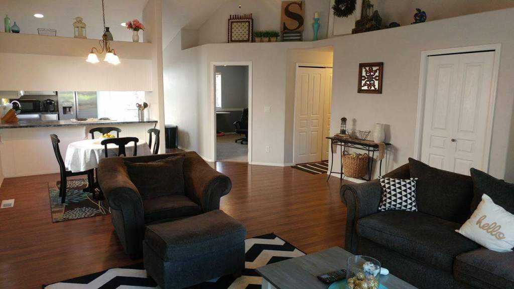 staging house on a budget