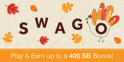 Swago Thanksgiving Bonus!
