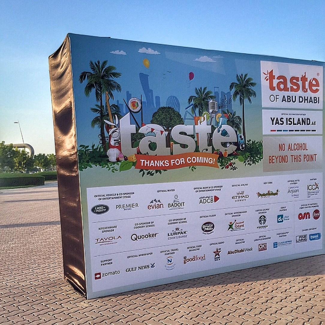 Taste of Abu Dhabi 2015 | Du Arena | anexpatabroad