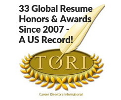 executive resume writing awards