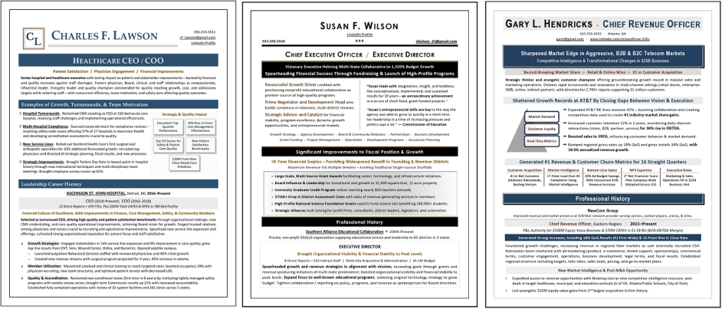 executive resume samples by Laura Smith-Proulx
