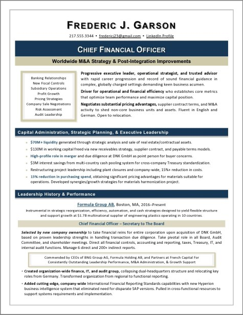 Global CFO Resume by Laura Smith-Proulx