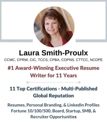 action words from executive resume writer Laura Smith-Proulx