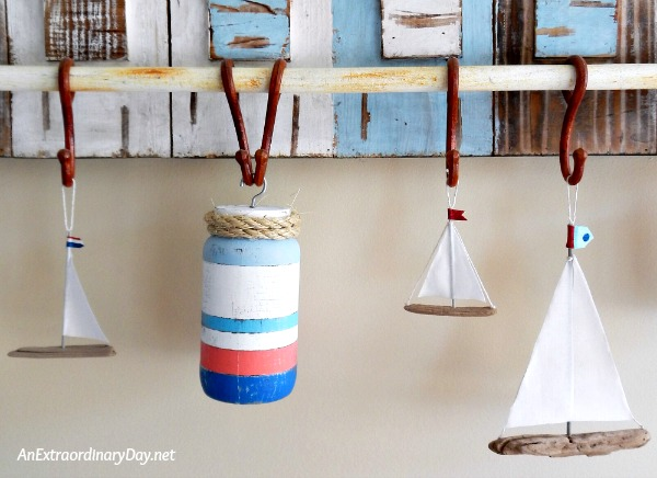 How to Make Fun Nautical Buoys with Mason Jars   An Extraordinary Day DIY Nautical Home Decor for Summer   AnExtraordinaryDay net