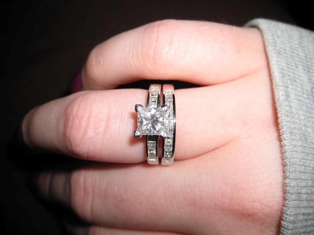 princess cut solitaire engagement rings with wedding band | ANextWeb