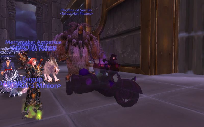 shadow priest in a motorcycle plus a boomkin equals SHADOWKIN