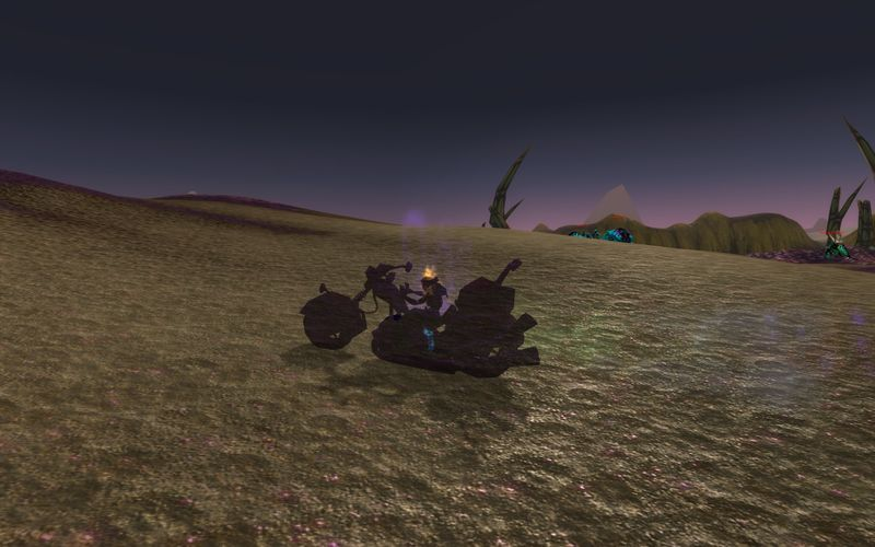 shadow priest on motorcycle, Tanaris