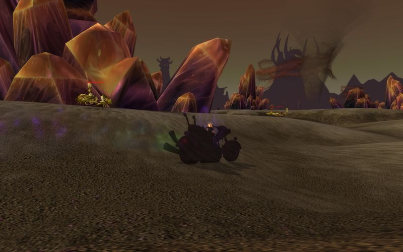 shadow priest on motorcycle, Silithus