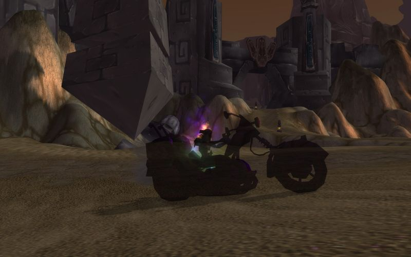 shadow priest on motorcycle, AQ