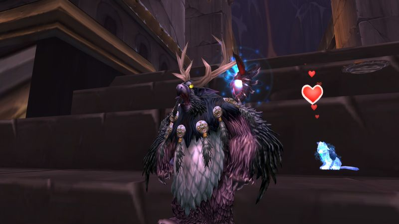 Who's a cute little fuzzy wuzzy? No, not you miss boomkin, I was talking to the spectral tiger cub!