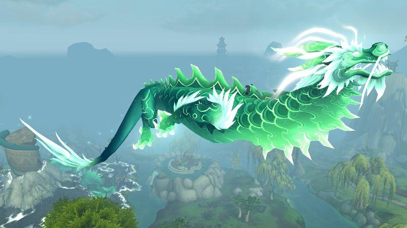 weeeee! tiny shadow gnome on incredibly huge Jade Dragon...