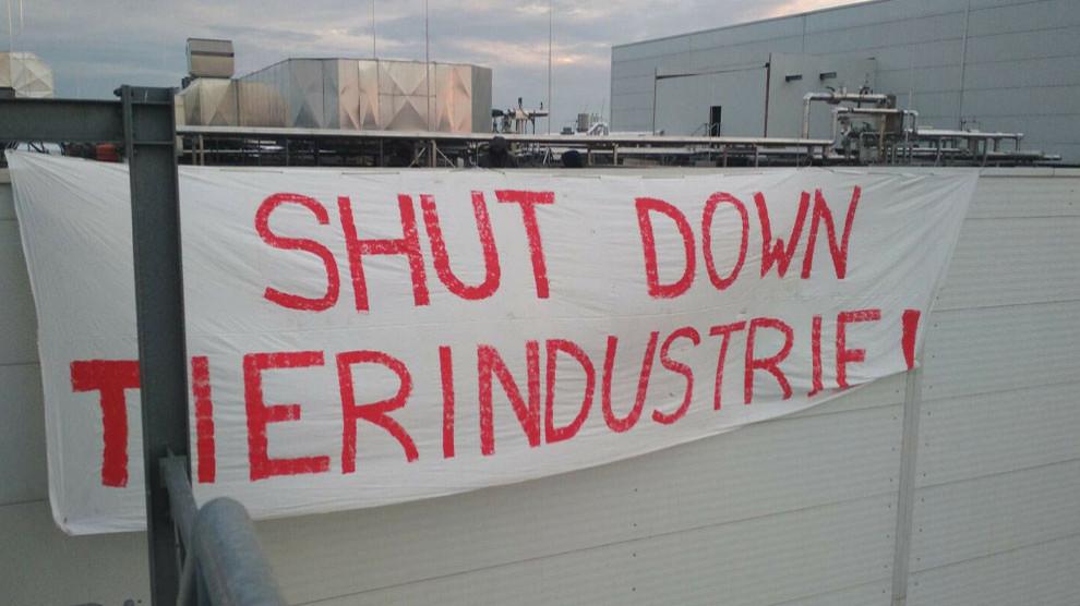anf aktivisten besetzen dach von