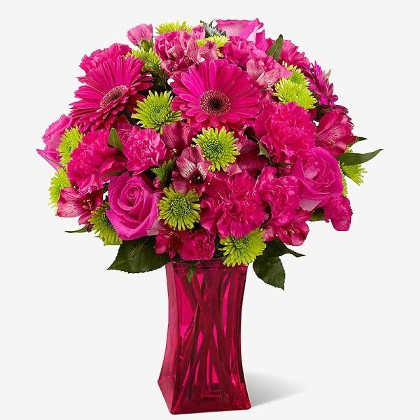Для, малиновый букет цветов