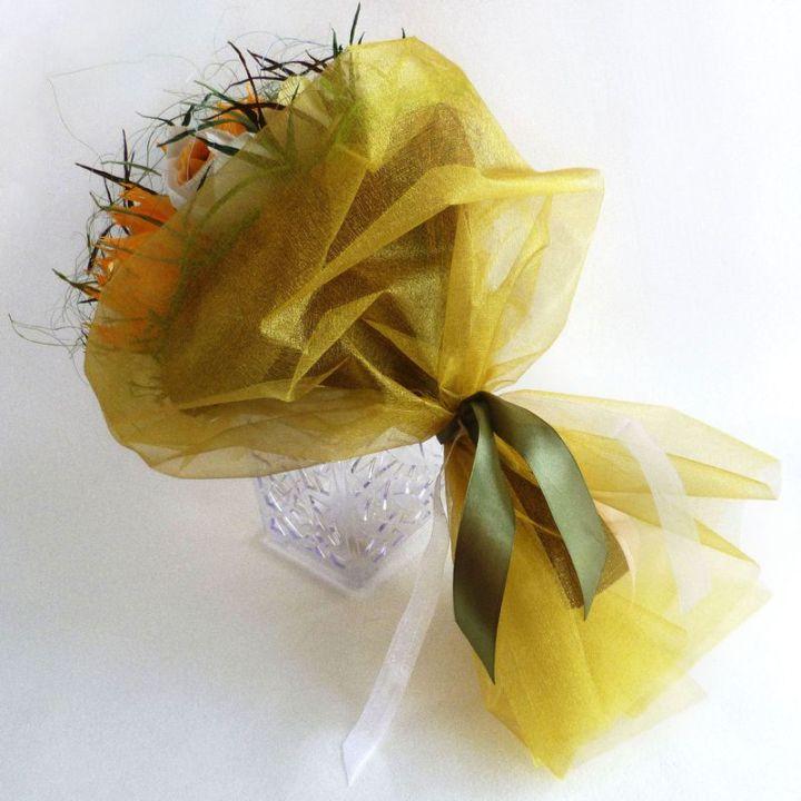Букет из конфет: В солнечной гамме