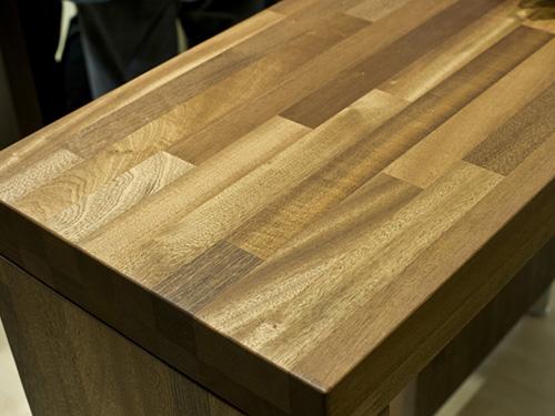 стол из мебельного щита из сосны