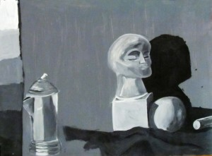 Still Life Black and White Painting
