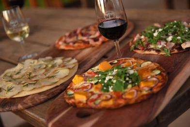 Oven baked rustic pizzas