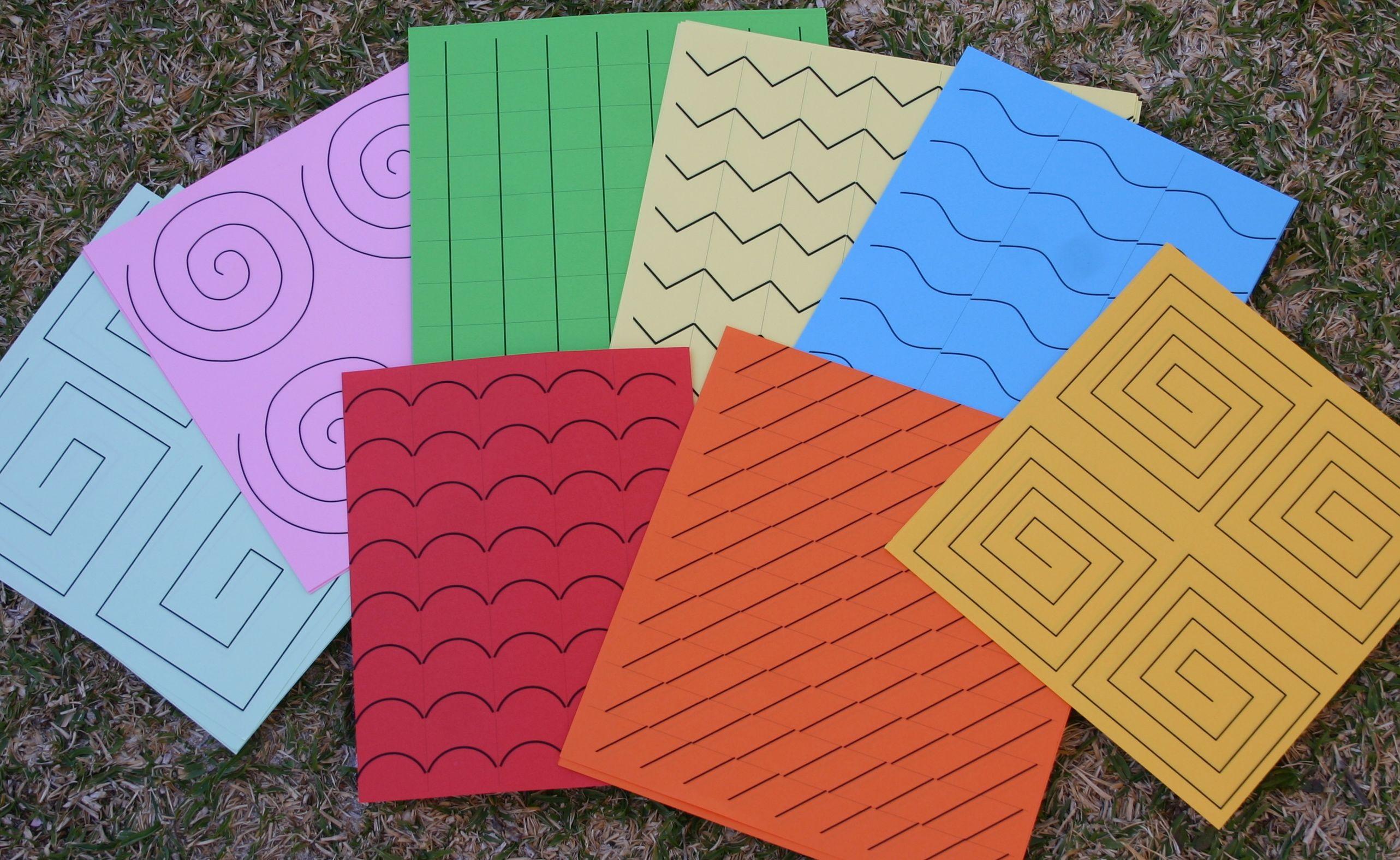 Free Printable Montessori Cutting Strips