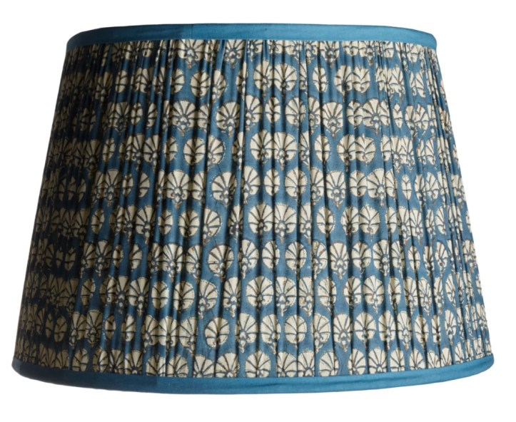 Society Social blue pleated gathered lampshade