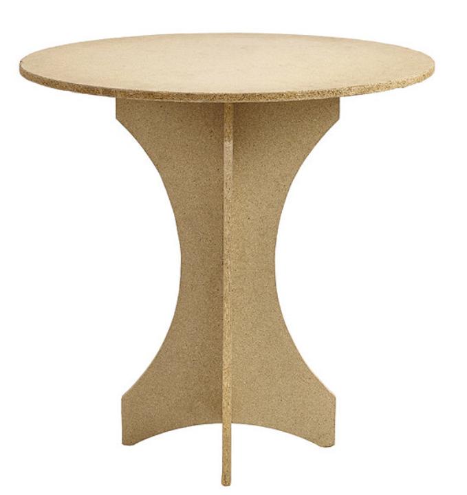 Skirted table base