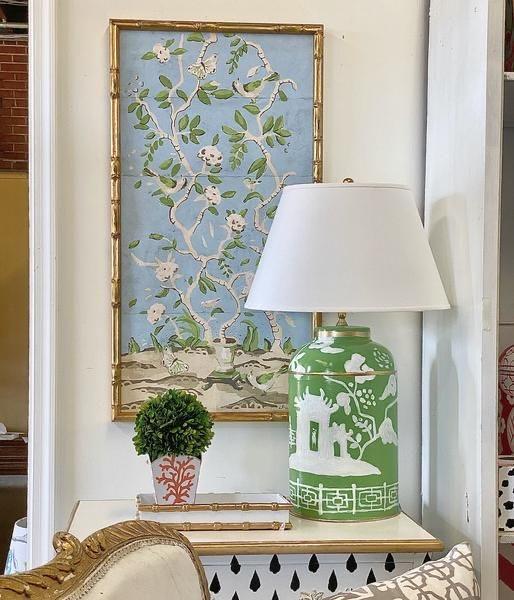 Dana Gibson framed Chinoiserie wallpaper