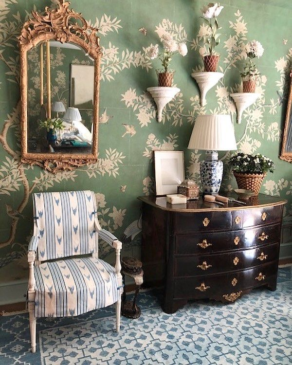 Mark D. Sikes bedroom green