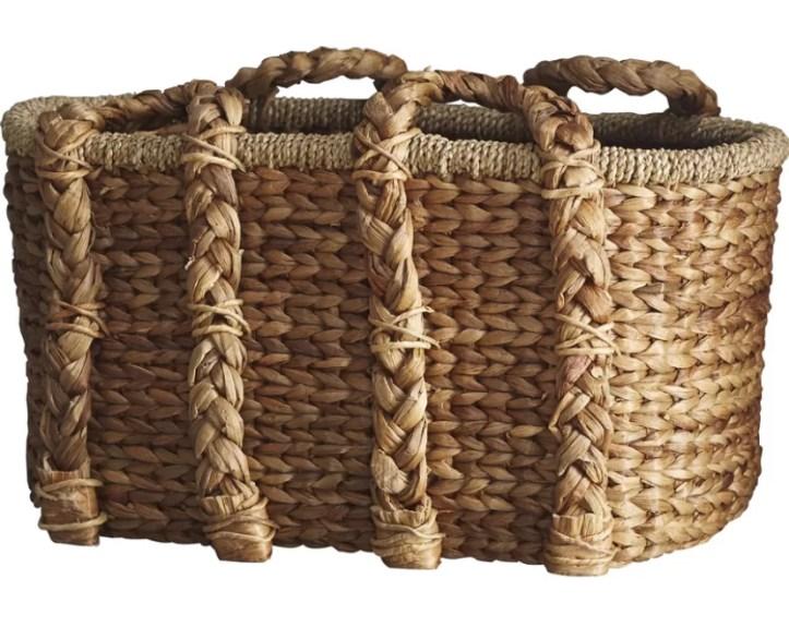 Large rattan wicker storage basket