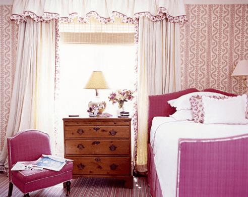 Sister Parish pink bedroom