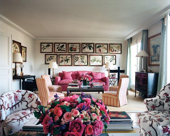 Lee Radziwill living room traditional design