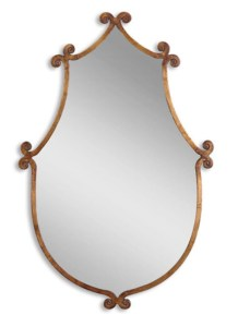 Gold Loop Mirror from Shades of Light