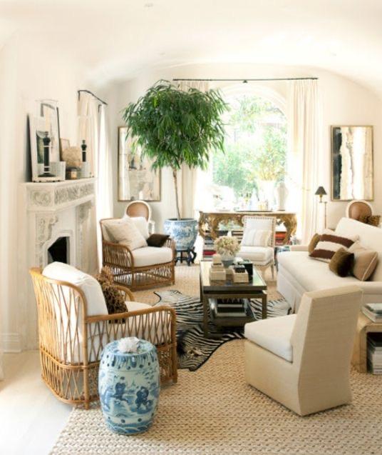 Mark D Sikes neutral living room