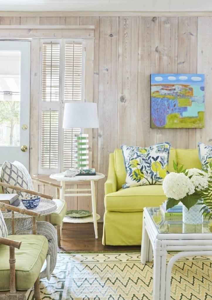 Chenault James tropical lakeside living room
