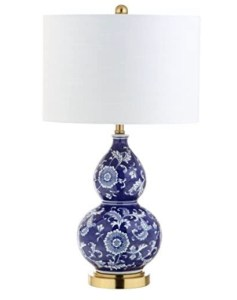 Blue and white double gourd table lamp