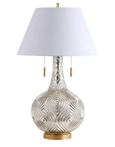 Affordable mercury glass table lamp