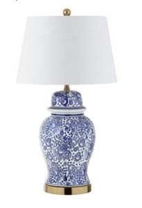 Blue and white ginger jar table lamp