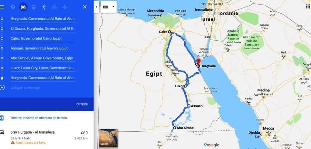 Traseu o lună în Egipt