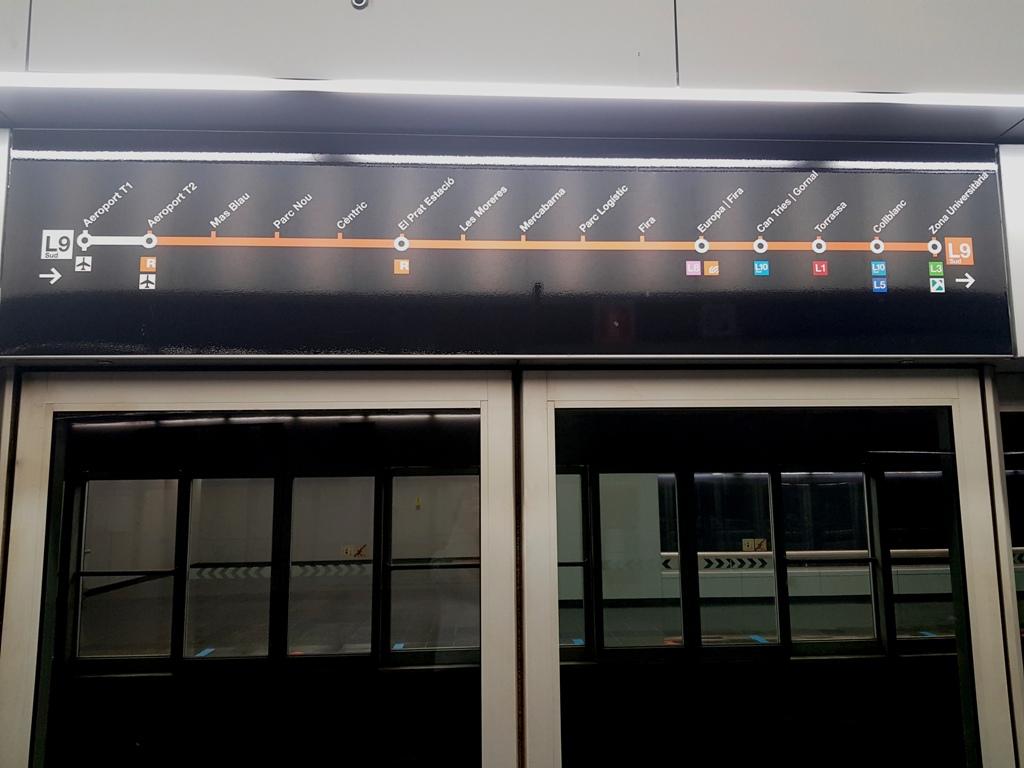 Barcelona în 5 zile - metrou aeroport - Barcelona