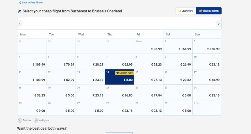 Ryanair sale: Zboruri din București cu 5€/sens