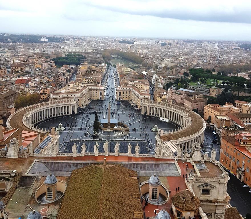 Cupola Basilicii San Pietro bilanț 2018 pentru Angela Călătorește
