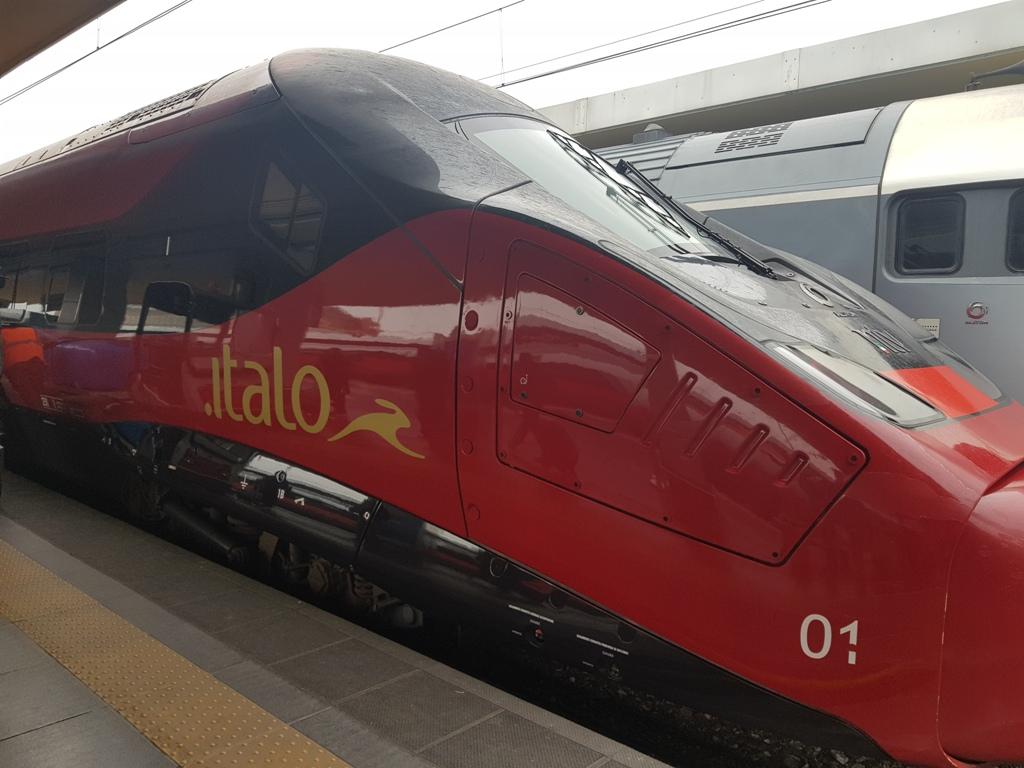 cu trenul prin Italia